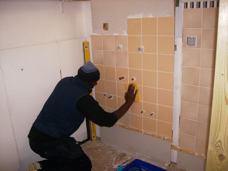 Tiling A Wall - Photos Wall and Door Tinfishclematis.Com